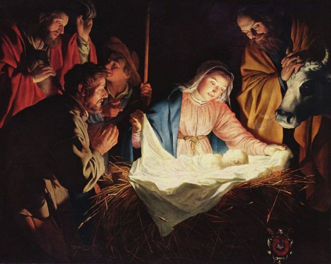 The Adoration of the Shepherds (Gerard van Honthorst), 1622.